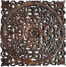 carved wood wall decor
