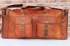 vintage leather duffel bags