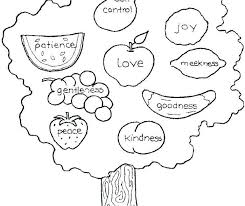 Fruits Of The Spirit Coloring Pages Fruit Of The Spirit Coloring