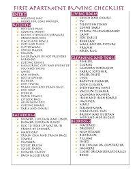First Apartment Buying Checklist Apartamento Pinterest