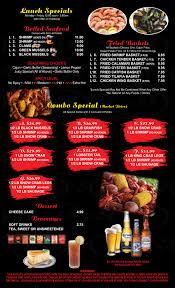 Cajun Combo Dish & Juicy Seafood Menu ...