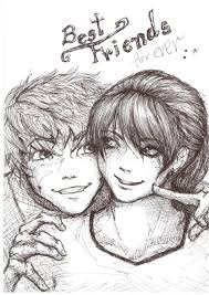cute anime best friends boy and