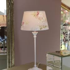shabby chic table lamp with pink fl shade