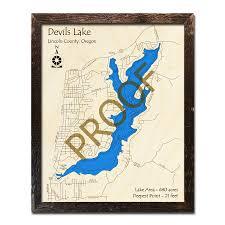 Nautical Wood Charts Devils Lake Or Wood Map 3d Nautical Wood Charts