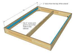 wooden bed frame side rails home design 3d