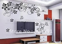 free shipping removable wall sticker butterfly vine flower tree wall art stickers decals stencils  on wall art stencils free with free shipping removable wall sticker butterfly vine flower tree wall