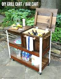 diy portable bar a tutorial to build an outdoor bar cart complete with free plans you