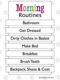 Free Morning Routine Chart For Children