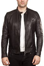 belstaff kirkham tumbled leather biker jacket