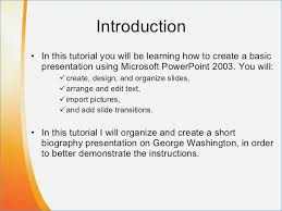 powerpoint biography introduction for a presentation on powerpoint skywrite me