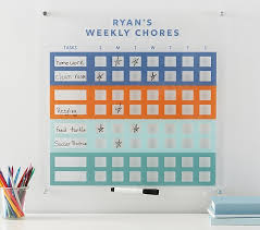 Teenage Chore Chart And App Personalized Acrylic Chore Chart