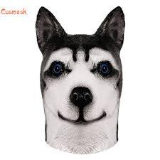 Cosmask Siberian Husky Dog Latex Mask ...