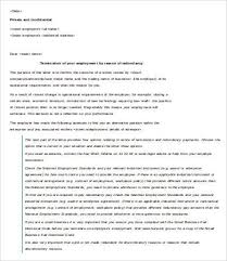 Letter Of Termination Of Employment Template 6 Free Word Pdf
