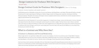 Basic Contract Outline 6 Useful Web Design Contract Templates You Wish You Knew