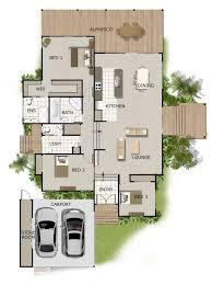 split level house plan on timber floor australian houses