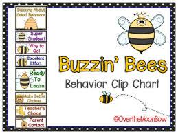 Buzzin Bees Behavior Clip Chart