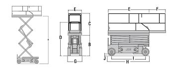 jlg 3246es electric scissor lift eazi s dimensions
