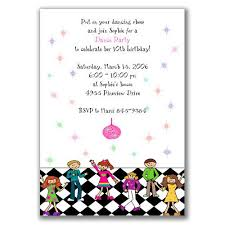Childrens Disco Invitations Dance Party Invitations For Kids Birthday Party In 2019