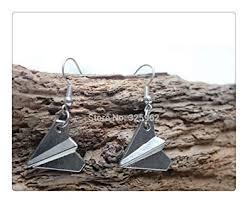 one direction harry s paper airplane drop earrings fans steam punk jewelry earrings