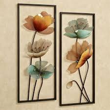 metal flower wall art set