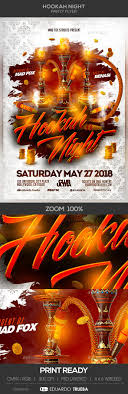 4 X 6 Flyer Template Hookah Night Party Flyer Template All Text Is Editable Flyer Size 4