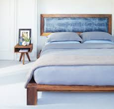 nice headboard in country bedroom showed by old wooden box framed blac wooden headboard with shabby white rustic tone