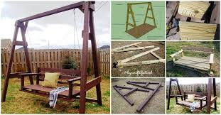 exciting outdoor diy brilliant swinging benches for summertime fun diy outdoor swing