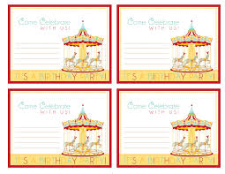 Carnival Birthday Invitations How To Host A Carnival Birthday Party Free Printable Invite