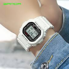 SANDA <b>Waterproof Sport Watches</b> Women Luxury <b>LED</b> Electronic ...