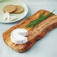 personalised olive wood cheese board dining room