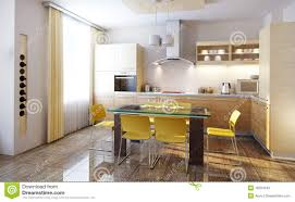 Of Kitchen Interior Render Stock Illustrations 570237 Render Stock Illustrations