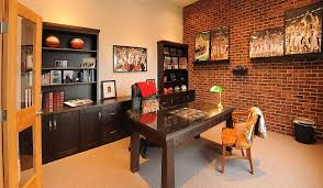 turn the lone brick wall in your home office into a gorgeous gallery wall from brick office furniture