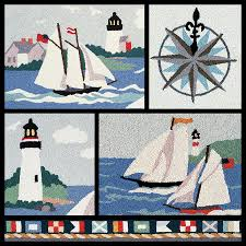 claire murray sailing hand hooked rugs