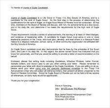 Eagle Scout Letter Of Recommendation Example 11 Best Eagle Scout