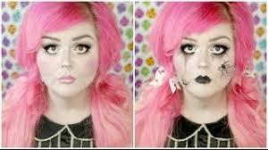 cute or creepy broken doll easy makeup tutorial