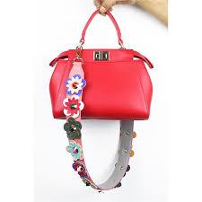 2019 2019 hot 90cm colorful flower replacement shoulder bag straps pu leather purse handles for handbags belt bag accessories 924 from fishmen05