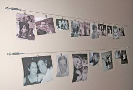 Creative Idea for Wall Picture Display. Wire Wall Picture Display