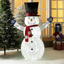 Holiday Time Light Up Led Fluffy Snowman Instructions Holiday Time 72 Inch Light Up Led Fluffy Snowman With Top