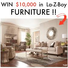 enter living room enter to win  in la z boy furniture and see this living