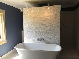 bathroom lighting modern. Options 109- Feature Wall, Free-Standing Bath And Hanging Lighting Modern- Bathroom Modern B