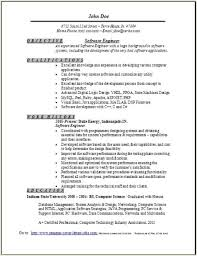 Software Engineer Resume Interesting Software Engineer Resume Sample Occupationalexamplessamples Free