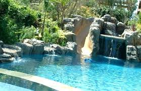 inground pools with waterfalls. Inground Pool Waterfalls With Waterfall Pools Slides And Slide U
