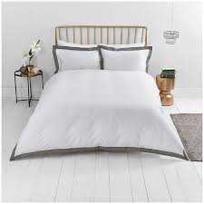 close image for sainsbury s home renaissance boutique white grey oxford border bed linen from sainsbury s