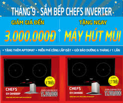 Tháng 9 này, mua ngay bếp từ Chefs EH DIH888 giảm đến 3 triệu – BẾP KƯỜNG  THỊNH