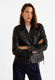 esther leather jacket black
