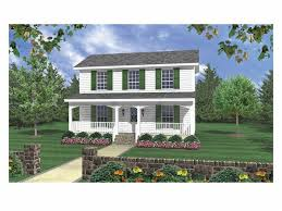 Country House Plans | 3 bedroom Small Two-Story Home Design #001H ...