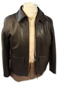 authentic indiana jones raiders of the lost ark leather jacket in brown goatskin stock size