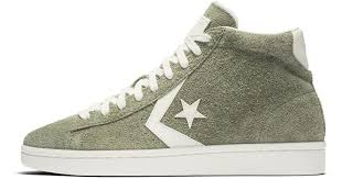lyst converse pro leather vintage suede high top men s shoe in green for men