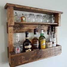 wood liquor rack wooden wine rack wall