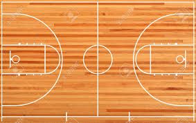 basketball court floor plan on parquet background stock photo 17066678